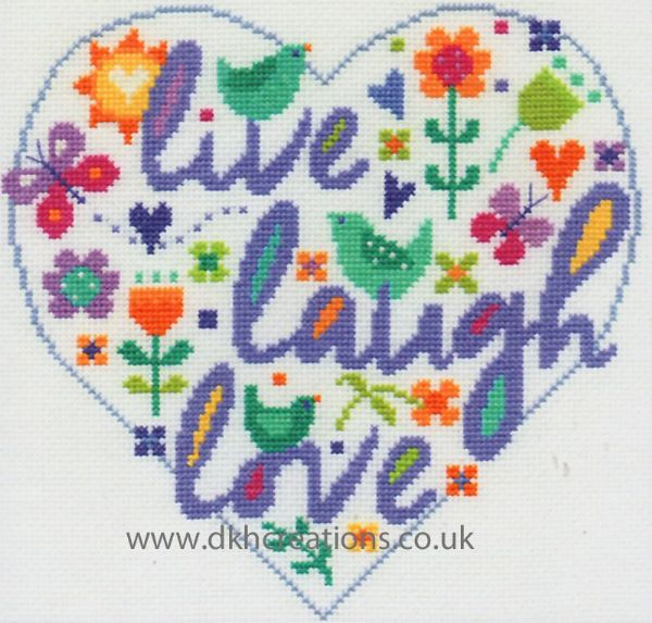 Live Laugh Love Cross Stitch Kit